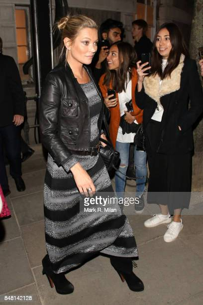 Kate Moss seen during London Fashion Week September 2017 on September 16 2017 in London England