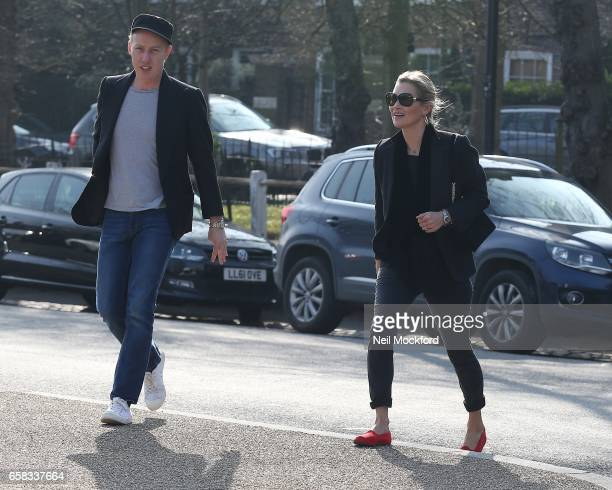 Kate Moss seen heading out to The Flask pub in Highgate with her friend James Brown on March 27 2017 in London England