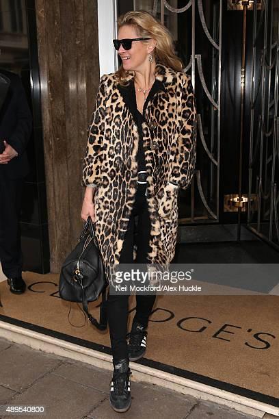 Kate Moss seen leaving Claridges Hotel on September 22 2015 in London England