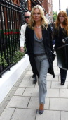 Kate Moss seen leaving C's Restaurant and returning to Claridges for a Rimmel shoot on September 15 2011 in London England