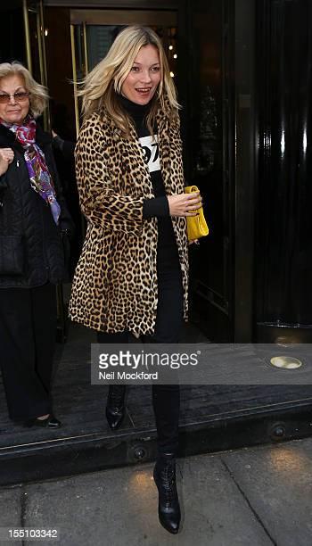 Kate Moss seen leaving The Wolseley restaurant on November 1 2012 in London England
