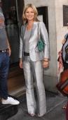 Kate Moss seen leaving The Wolseley restaurant on September 4 2013 in London England