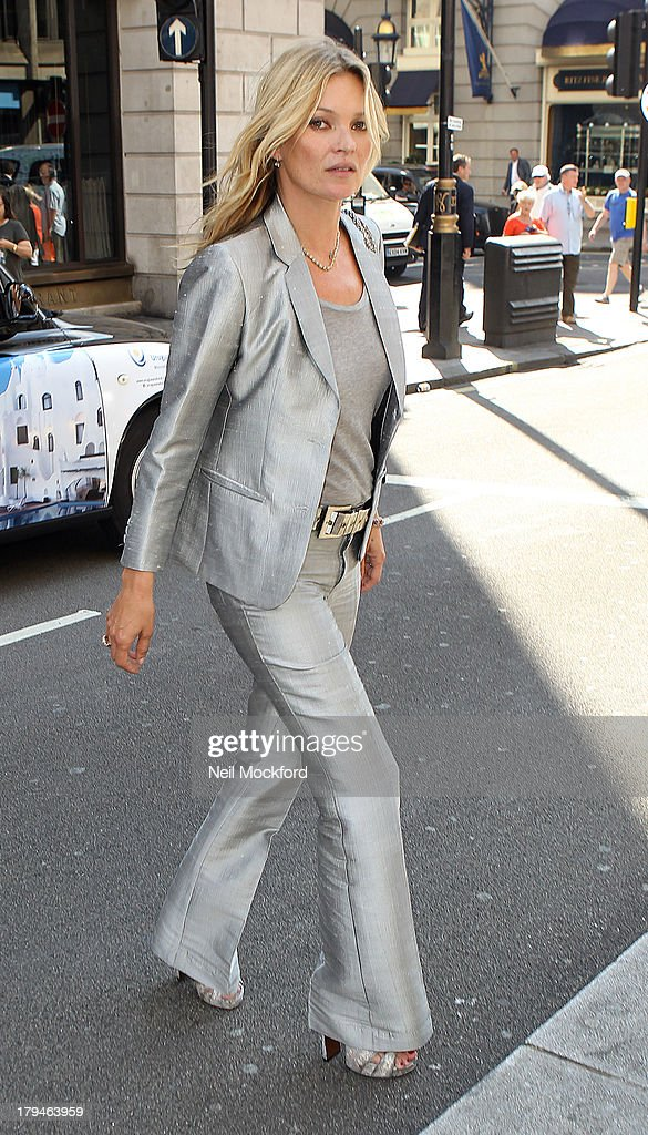 Kate Moss seen leaving The Wolseley restaurant on September 4 2013 in London England