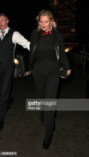 Kate Moss seen on a night out at China Tang in Mayfair on March 15 2017 in London England