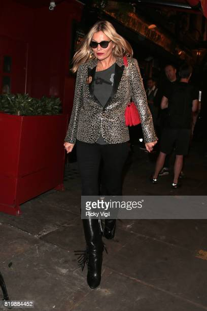 Kate Moss seen on a night out with boyfriend Count Nikolai von Bismarck arriving at J Sheekey restaurant after watching Sienna Miller's performance...
