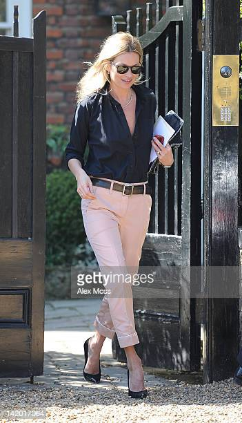 Kate Moss seen out in North London on March 28 2012 in London England