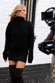 Kate Moss shoots project for Stuart Weitzman on June 24 2013 in London England