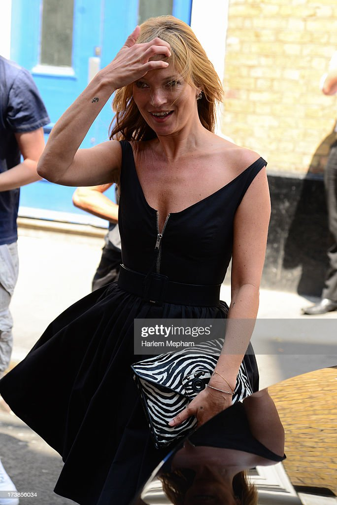 Kate Moss sighted at The Ivy on July 18, 2013 in London, England.