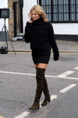 Kate Moss sighted during a shoot for shoe designer Stuart Weitzman on June 24 2013 in London England