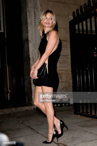 Kate Moss sighted during London Fashion Week Autumn/Winter 2012 on February 18 2012 in London England