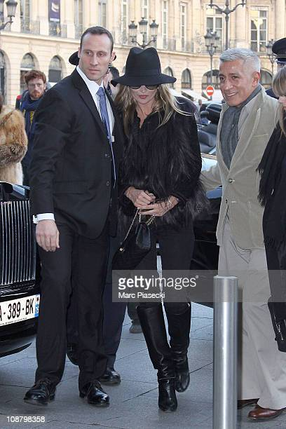Kate Moss sighted in Paris on February 3 2011 in Paris France