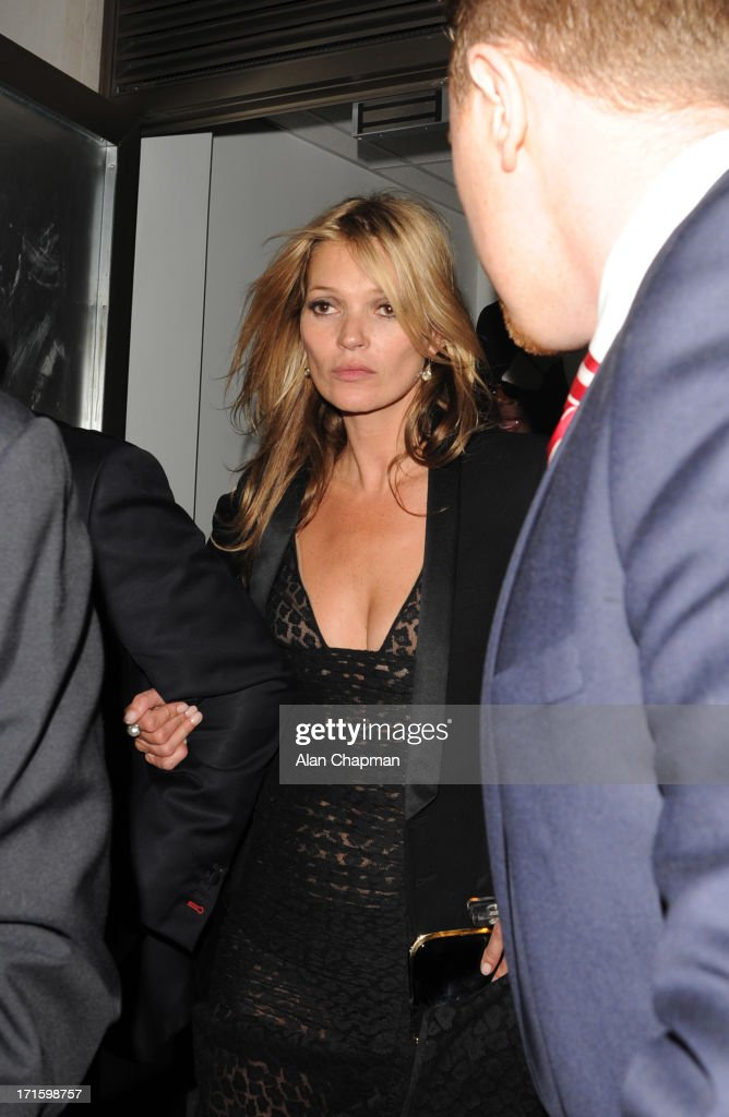 Kate Moss sighting leaving 45 Park Lane on June 26, 2013 in London, England.