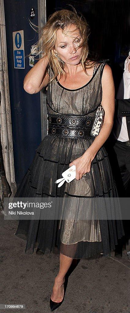 Kate Moss sighting leaving Cafe de Paris on June 20, 2013 in London, England.