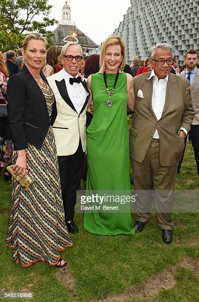 Kate Moss Tommy Hilfiger Julia PeytonJones and Sir David Tang attend The Serpentine Summer Party cohosted by Tommy Hilfiger on July 6 2016 in London...