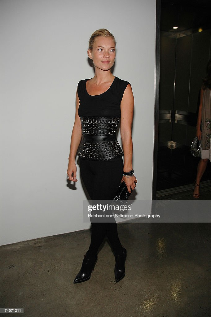 Kate Moss wearing Azzedine Alaia at the Milk Studio in New York City New York