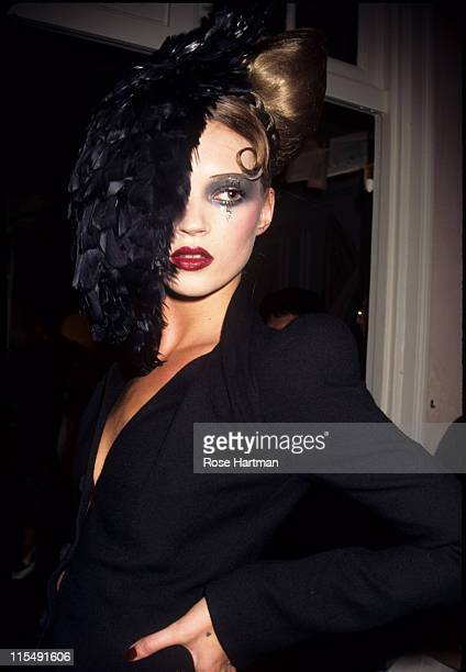 Kate Moss wearing John Galliano Spring 1995 during New York Fashion Week John Galliano 1995 at Bergdorff Goodman Department Store in New York New...