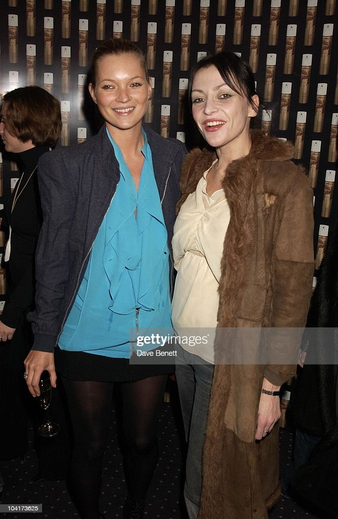 Kate Moss With Pearl Gough? (wife Of Danny Goffey From Supergrass), Frost French Fashion Tea Party At Bafta Cinema In Picadilly,turned The Normal Fashion Show On Its Head As The Audience Was Treated To A Film Of The Designers New Collection, London Fashion Week 2003