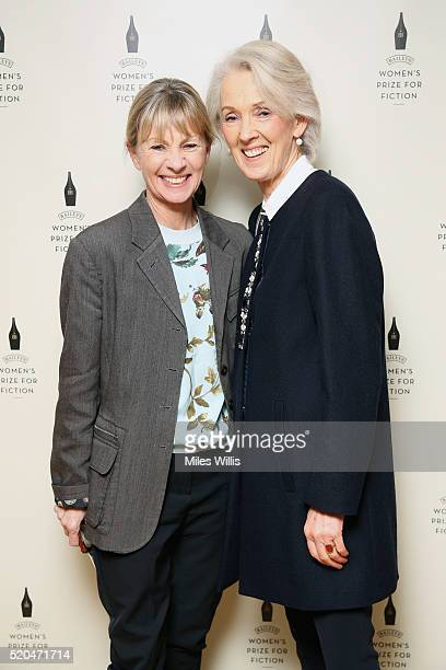Kate Mosse and Joanna Trollope attend the Baileys Women's Prize for Fiction 2016 Shortlist at Royal Festival Hall Southbank Centre on April 11 2016...