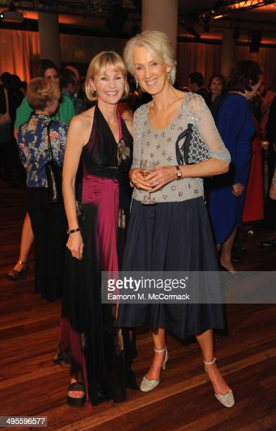 Kate Mosse and Joanna Trollope pictured at the Baileys Women's Prize for Fiction Winner's Announcement Ceremony at the Royal Festival Hall on June 4...