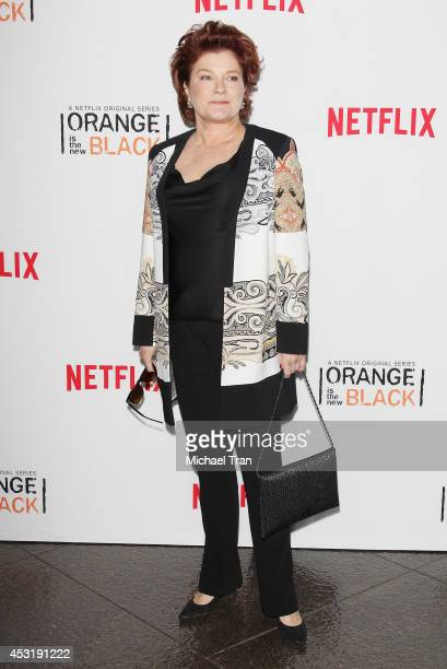 Kate Mulgrew arrives at the Los Angeles Screening of 'Orange Is The New Black' held at DGA Theater on August 4 2014 in Los Angeles California