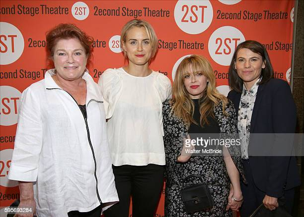 Kate Mulgrew Taylor Schilling Natasha Lyonne and Clea Duvall attend the opening night of the new play 'The Layover' at Second Stage Theatre on August...