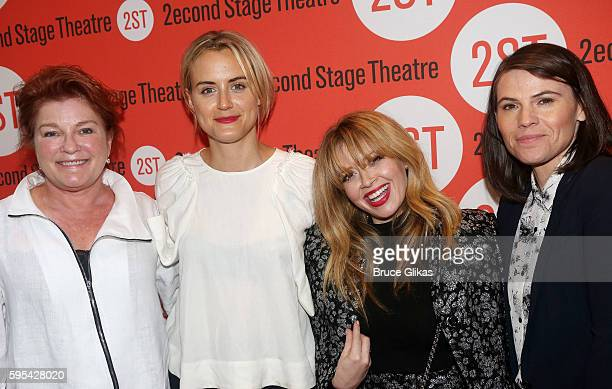 Kate Mulgrew Taylor Schilling Natasha Lyonne and Clea Duvall pose at the Opening Night of the new play 'The Layover' at Second Stage Theatre on...