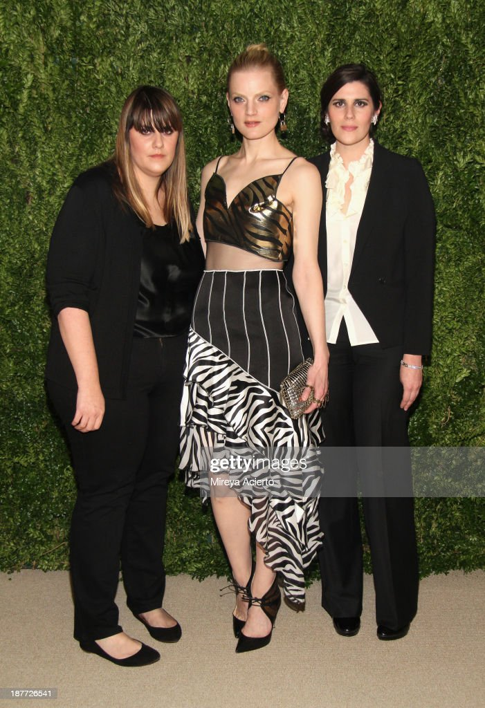 Kate Mulleavy, Guinevere van Seenus, and Laura Mulleavy attend CFDA and Vogue 2013 Fashion Fund Finalists Celebration at Spring Studios on November 11, 2013 in New York City.