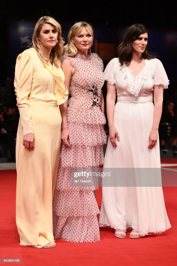 Kate Mulleavy, Kirsten Dunst and Laura Mulleavy from 'Woodshock' movie walk the red carpet ahead of the 'Three Billboards Outside Ebbing, Missouri' screening during the 74th Venice Film Festival at Sala Grande on September 4, 2017 in Venice, Italy.