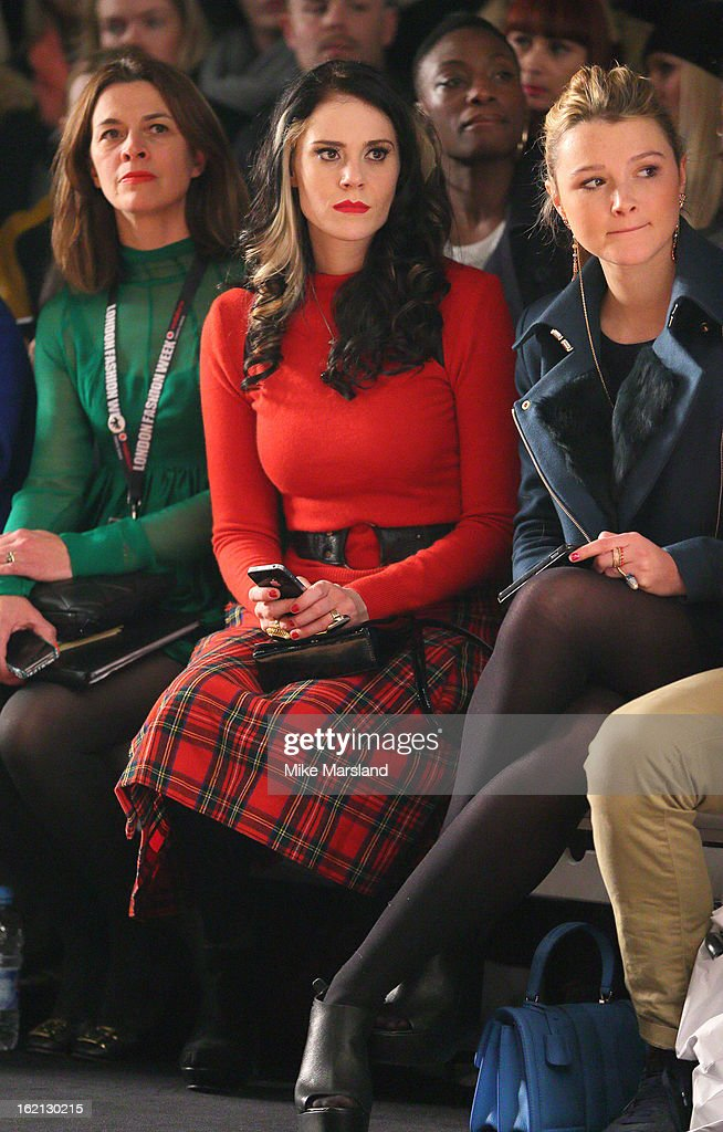 <a gi-track='captionPersonalityLinkClicked' href=/galleries/search?phrase=Kate+Nash&family=editorial&specificpeople=4337182 ng-click='$event.stopPropagation()'>Kate Nash</a> and <a gi-track='captionPersonalityLinkClicked' href=/galleries/search?phrase=Amber+Atherton&family=editorial&specificpeople=7192882 ng-click='$event.stopPropagation()'>Amber Atherton</a> the Aminaka Wilmont show during London Fashion Week Fall/Winter 2013/14 at Somerset House on February 19, 2013 in London, England.