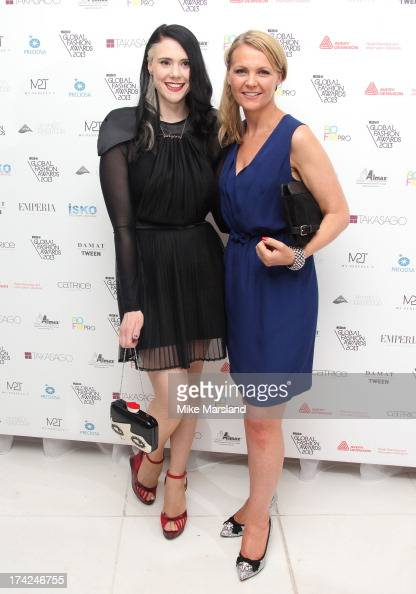 Kate Nash and Laurette Roberts attend as the nominations are announced for the WGSN Global Fashion Awards at St Martins Lane Hotel on July 22 2013 in...