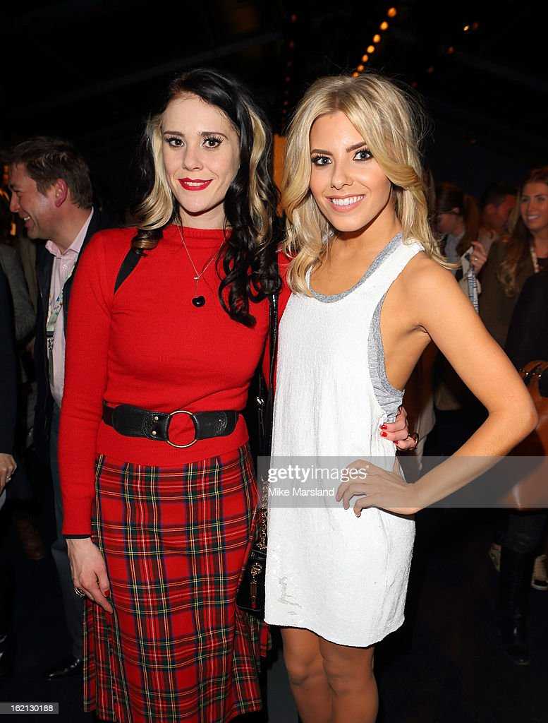 <a gi-track='captionPersonalityLinkClicked' href=/galleries/search?phrase=Kate+Nash&family=editorial&specificpeople=4337182 ng-click='$event.stopPropagation()'>Kate Nash</a> and Molly King attend the Aminaka Wilmont show during London Fashion Week Fall/Winter 2013/14 at Somerset House on February 19, 2013 in London, England.