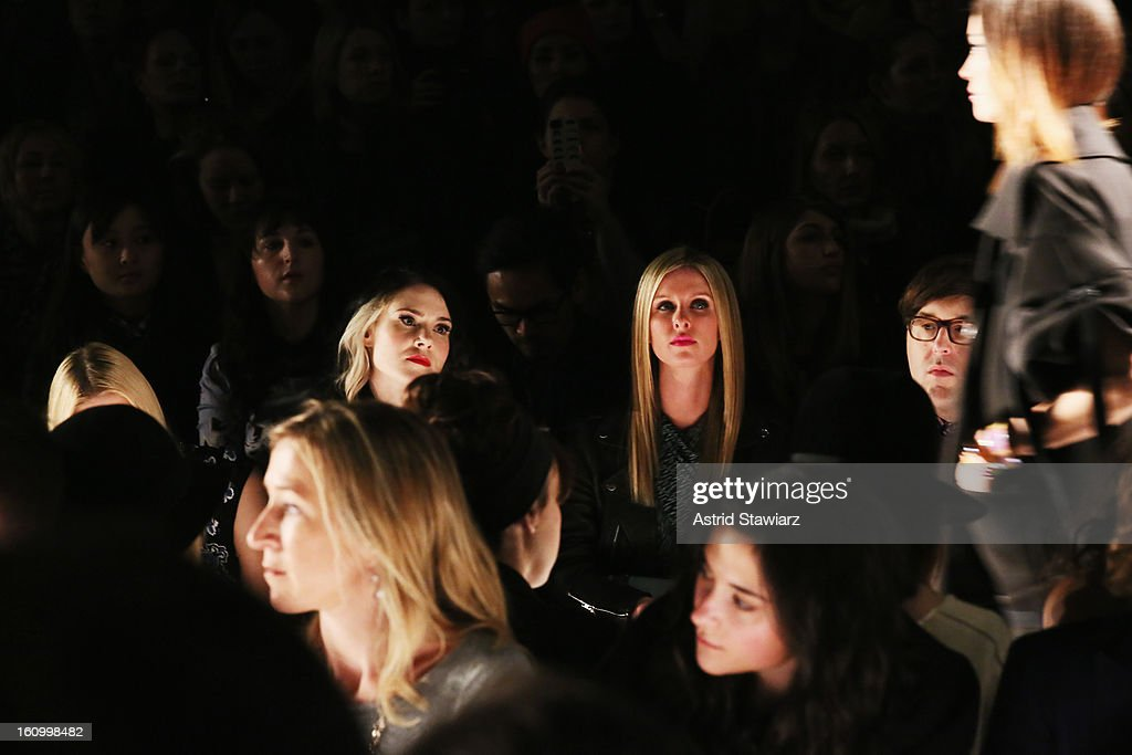 Kate Nash and Nicky Hilton attend the Rebecca Minkoff Fall 2013 fashion show with TRESemme during Mercedes-Benz Fashion Week at The Theatre at Lincoln Center on February 8, 2013 in New York City.