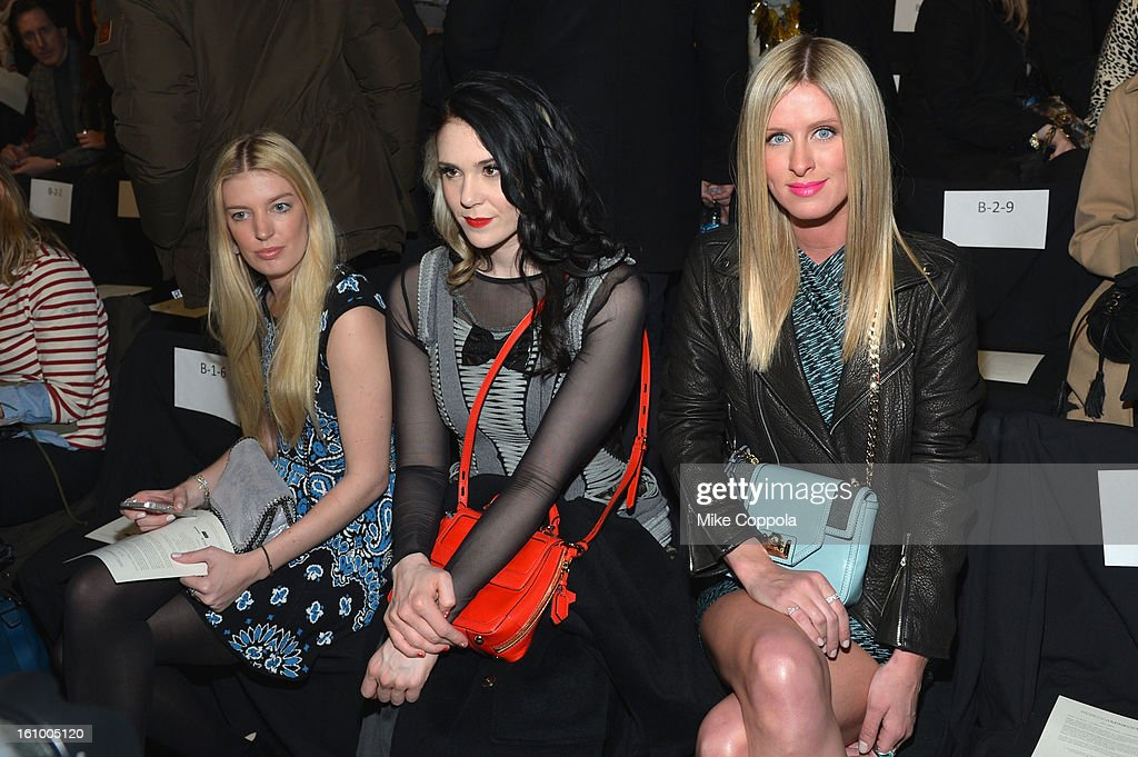 Kate Nash and Nicky Hilton attend the Rebecca Minkoff Fall 2013 fashion show during Mercedes-Benz Fashion at The Theatre at Lincoln Center on February 8, 2013 in New York City.