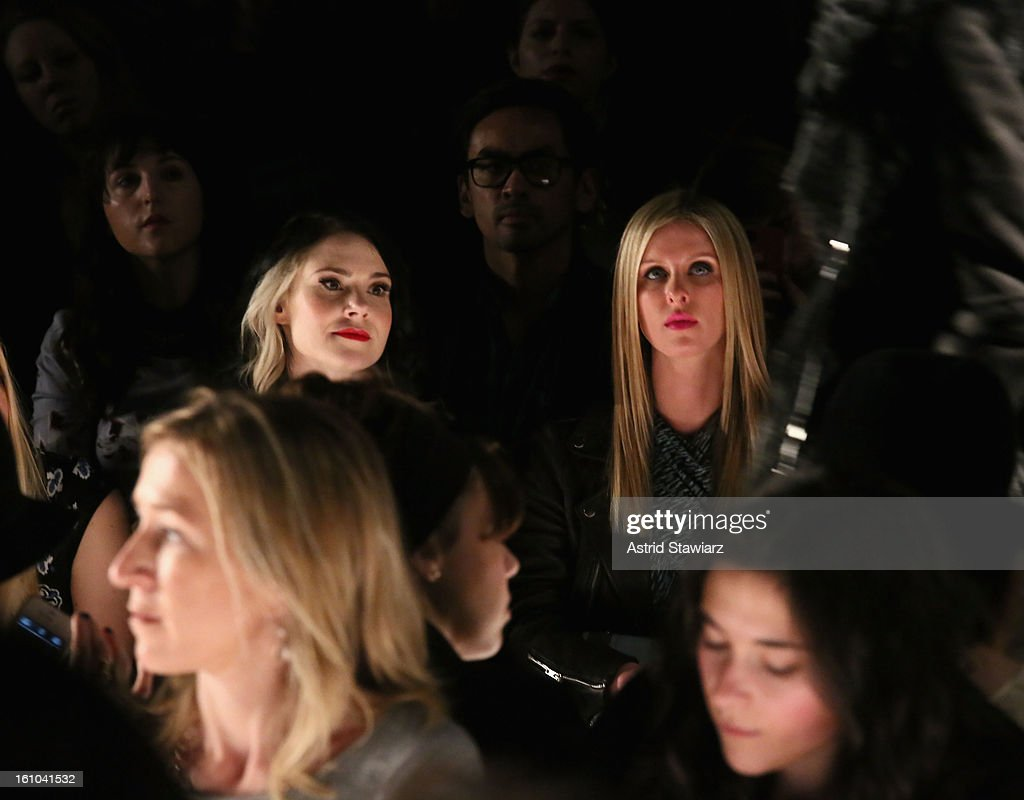 Kate Nash (L) and Nicky Hilton attend the Rebecca Minkoff Fall 2013 fashion show with TRESemme during Mercedes-Benz Fashion Week at The Theatre at Lincoln Center on February 8, 2013 in New York City.