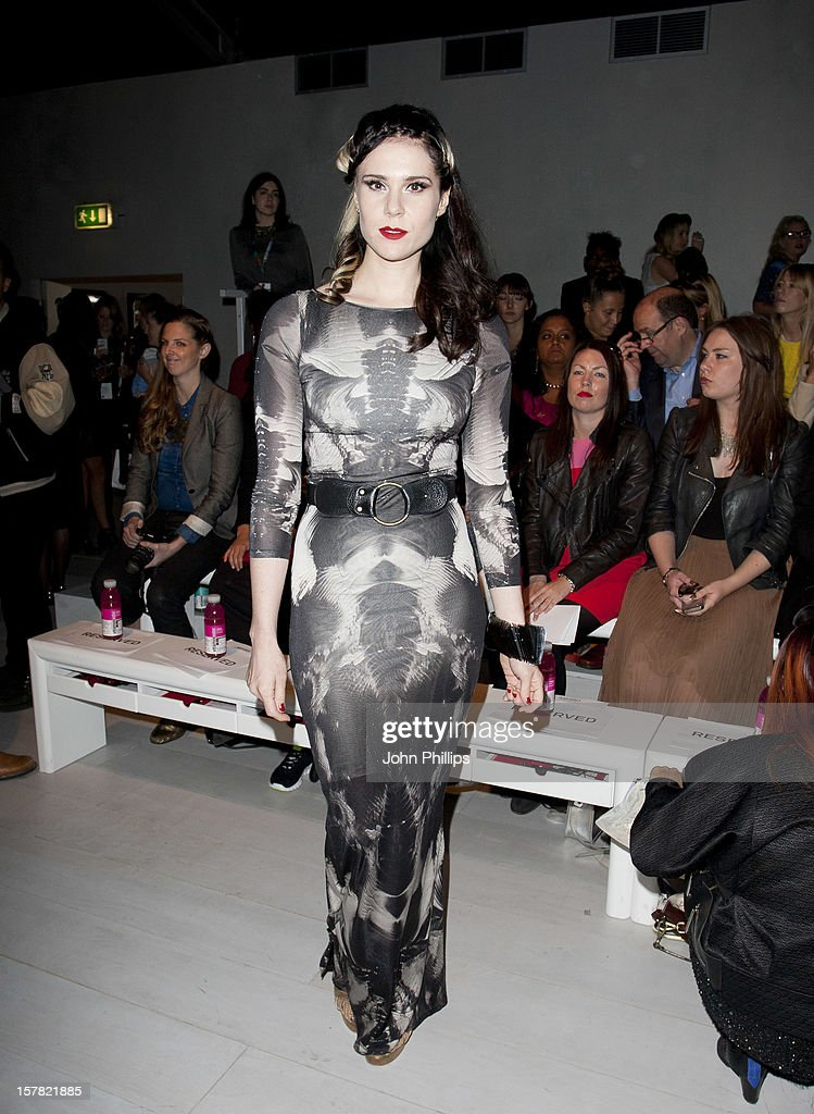 Kate Nash Attending The Ashish Fashion Show, Part Of London Fashion Week In London.