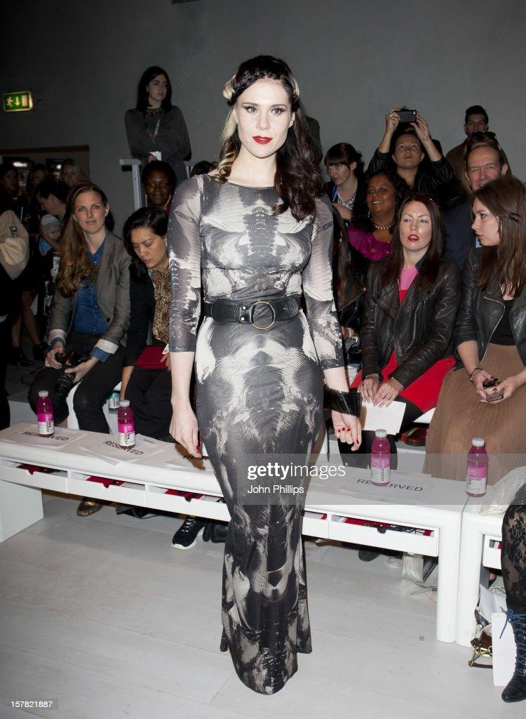 Kate Nash Attending The Ashish Fashion Show, Part Of London Fashion Week In London.