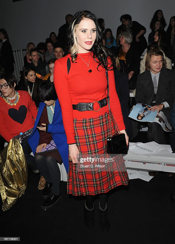 Kate Nash attends the Ashish show during London Fashion Week Fall/Winter 2013/14 at Somerset House on February 19, 2013 in London, England.