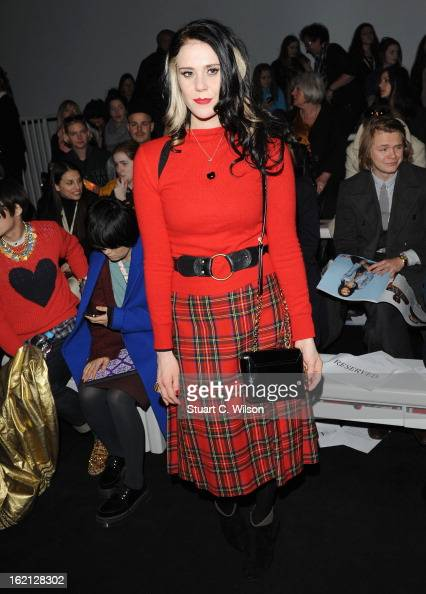 Kate Nash attends the Ashish show during London Fashion Week Fall/Winter 2013/14 at Somerset House on February 19 2013 in London England