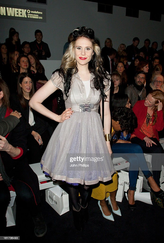 Kate Nash attends the Bora Aksu show during London Fashion Week Fall/Winter 2013/14>> at Somerset House on February 15, 2013 in London, England.