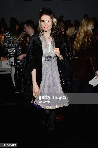 Kate Nash attends the Bora Aksu show during London Fashion Week Fall/Winter 2013/14 at Somerset House on February 15 2013 in London England