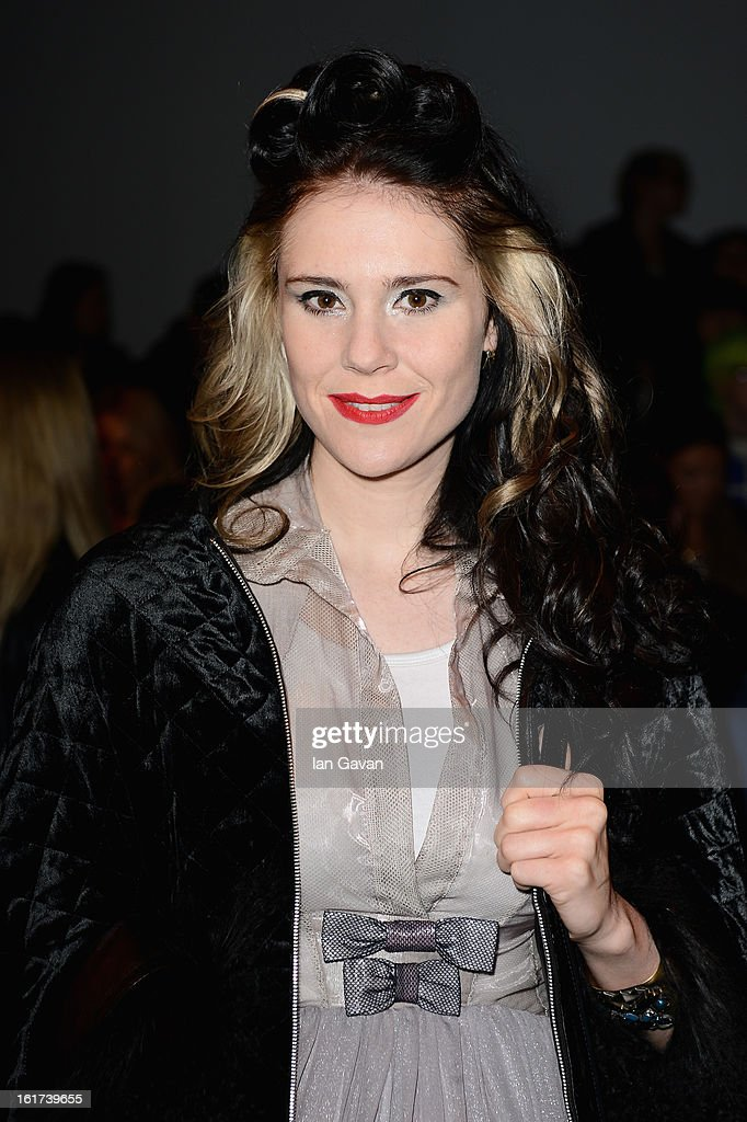Kate Nash attends the Bora Aksu show during London Fashion Week Fall/Winter 2013/14 at Somerset House on February 15, 2013 in London, England.