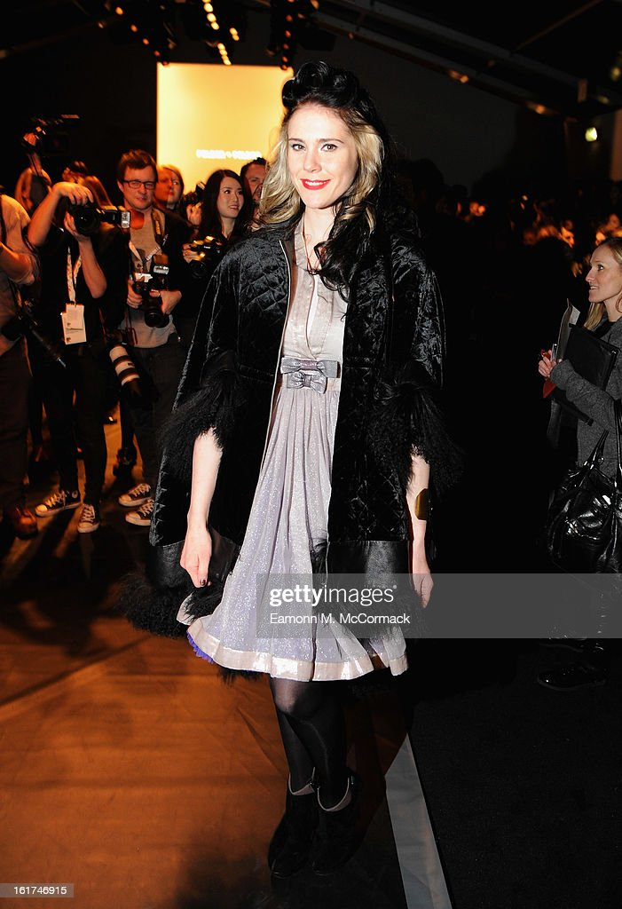 Kate Nash attends the Felder Felder show during London Fashion Week Fall/Winter 2013/14 at Somerset House on February 15, 2013 in London, England.