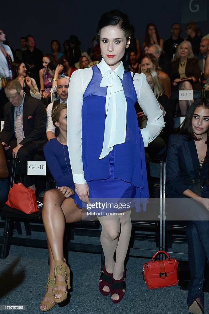 <a gi-track='captionPersonalityLinkClicked' href=/galleries/search?phrase=Kate+Nash&family=editorial&specificpeople=4337182 ng-click='$event.stopPropagation()'>Kate Nash</a> attends the Nicole Miller Spring 2014 fashion show during Mercedes-Benz Fashion Week at The Studio at Lincoln Center on September 6, 2013 in New York City.