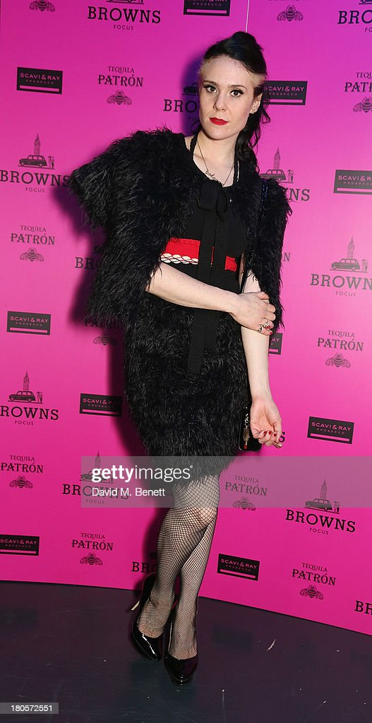 <a gi-track='captionPersonalityLinkClicked' href=/galleries/search?phrase=Kate+Nash&family=editorial&specificpeople=4337182 ng-click='$event.stopPropagation()'>Kate Nash</a> attends the party hosted by Browns Focus & Designer Brian Lichtenberg to officially launch the NEW Browns Focus at 24 South Molton Street on September 14, 2013 in London, United Kingdom.