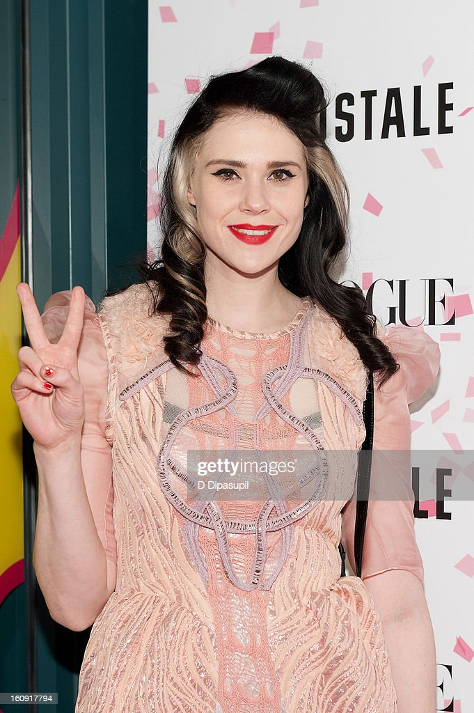 Kate Nash attends the Teen Vogue 10th Anniversary and Chloe Grace Moretz Sweet 16 Celebration at Aeropostale Times Square on February 7, 2013 in New York City.