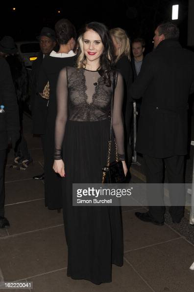 Kate Nash attends the Warner Music Brit awards after party at The Savoy Hotel on February 20 2013 in London England