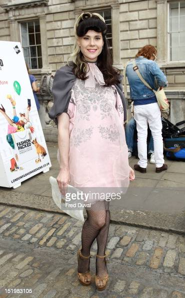 Kate Nash is seen during day 1 at London Fashion Week on September 14 2012 in London England