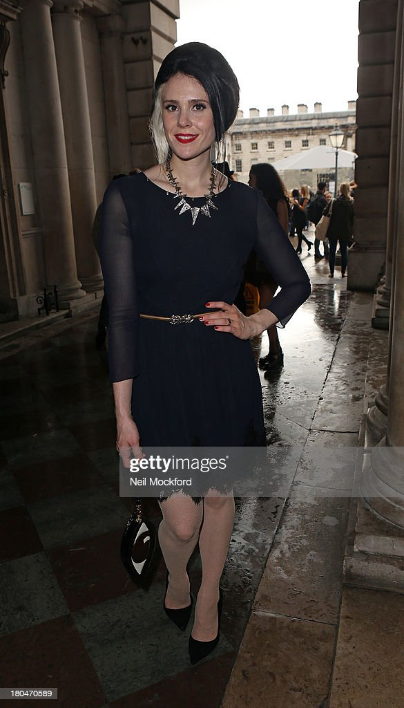 <a gi-track='captionPersonalityLinkClicked' href=/galleries/search?phrase=Kate+Nash&family=editorial&specificpeople=4337182 ng-click='$event.stopPropagation()'>Kate Nash</a> is sighted at Somerset House on September 13, 2013 in London, England.
