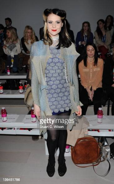 Kate Nash on The front row of the Ashish Show at London Fashion Week Autumn/Winter 2012 at Somerset House on February 21 2012 in London England