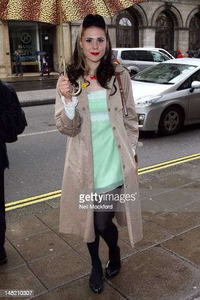 Kate Nash seen arriving at The Wolseley on July 12 2012 in London England